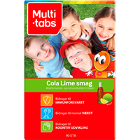 Multi-tabs Cola/Lime, 90 stk.